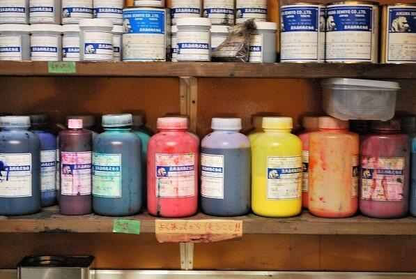オリジナル、手拭い、製作、染め、液体染料