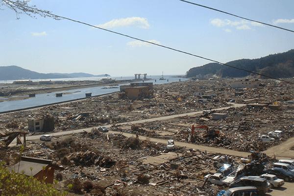 陸前高田市、東日本大震災、写真、津波
