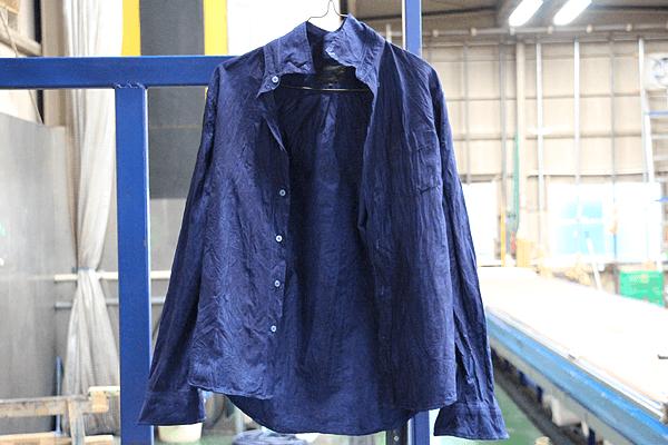 藍染め体験 シャツ 濃藍