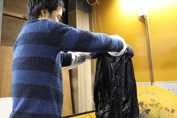 藍染め体験 染め直し シャツ