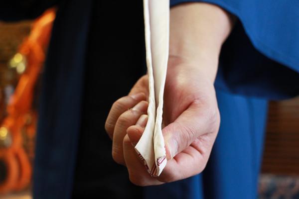 半纏•法被の帯の結び方(神田結び)