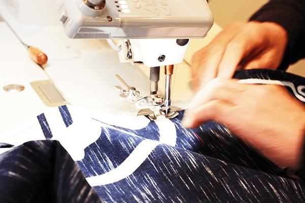 半纏 法被 製作 縫製
