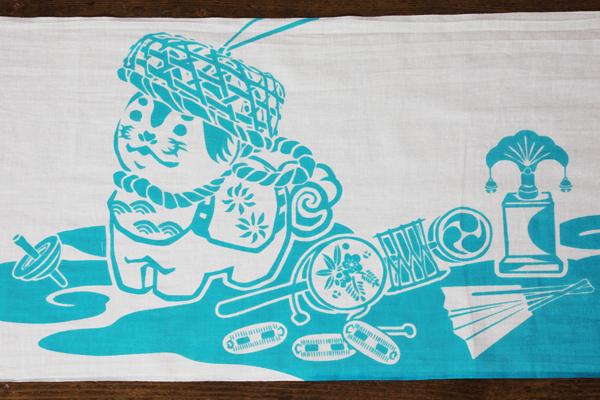 手拭い てぬぐい オーダー 製作 オリジナル ソニー生命 籠かぶり犬