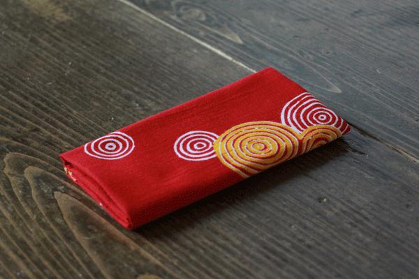 手拭い 手ぬぐい てぬぐい オーダー 製作 オリジナル 臙脂色 水紋様