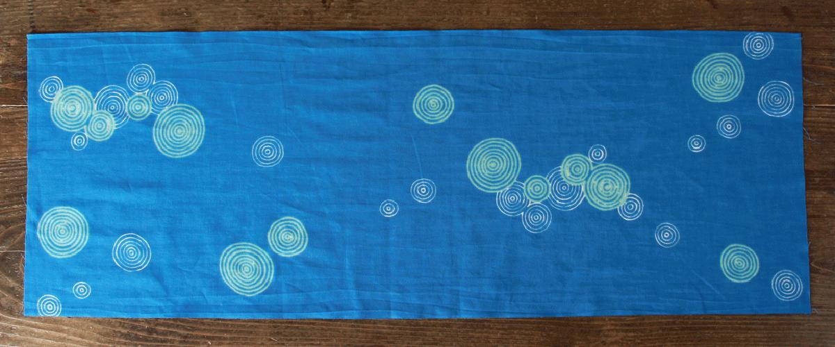 手拭い 手ぬぐい てぬぐい オーダー 製作 オリジナル 水色 水紋様