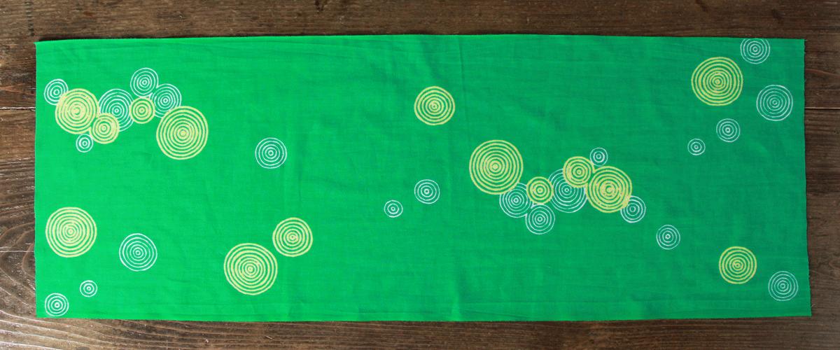 手拭い 手ぬぐい てぬぐい オーダー 製作 オリジナル 緑色 水紋様