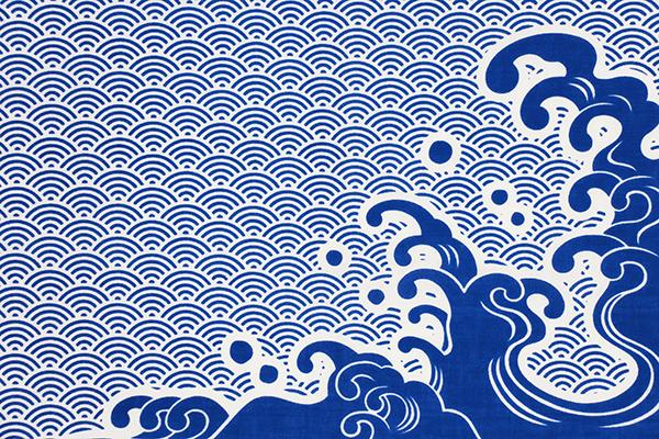 手拭い 手ぬぐい てぬぐい オーダー 製作 名入れ 株式会社セキムラ 青海波