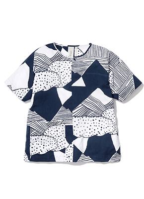LOCAL WEAR IWATE 手ぬぐいシャツ NIHON Batik