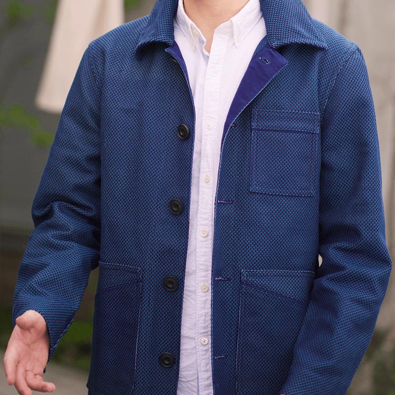 京屋オリジナル 藍染め刺子ジャケット