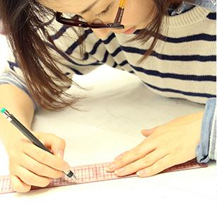 縫製の流れ 01 パターン作成