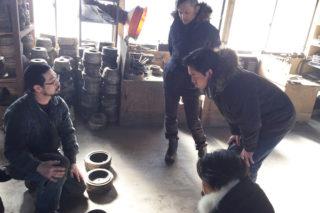 伝統工芸の工場見学