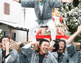 一関 平泉 餅 餅神輿