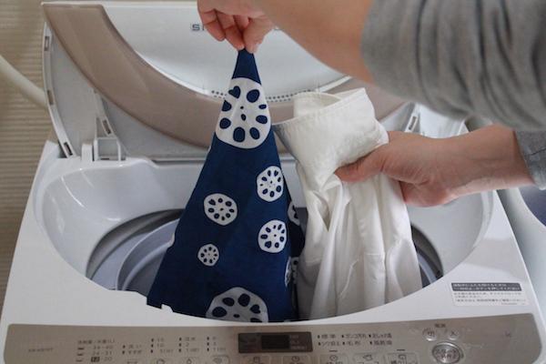 手拭い てぬぐい 洗い方 ダメな例 白 色移り