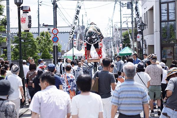 一関夏祭り 錦町フェス 餅 餅まき神輿 浦風