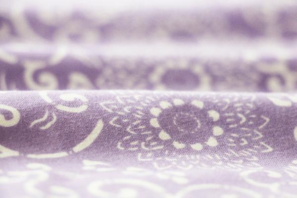藤色 手拭い オリジナル 菊唐草
