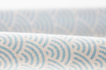 水色 手拭い オリジナル 青海波