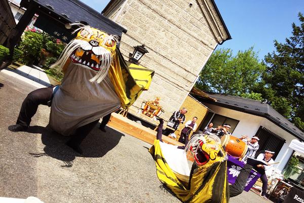 虎舞 向川原虎舞 伝統芸能 衣装 製作