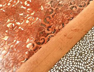 染物 反物 和柄 伝統 染色型 和紙
