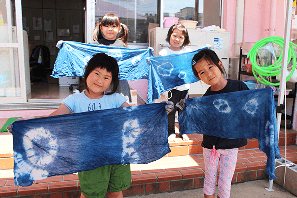 藍染体験 京屋染物店 手拭い 藍